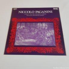 Discos de vinilo: PAGANINI - CUARTETO N° 7 / TERCETO - VIOLIN VIOLA GUITARRA VIOLONCELO. Lote 197306408