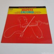 Discos de vinilo: HEIFETZ ENCORES - THE VIOLINIST OF THE CENTURY. Lote 197318186