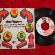 Discos de vinilo: THE FLIPPERS/ PLEASE DON'T CRY LITTLE EVA/FRANCÉS. Lote 197319398