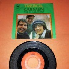 Discos de vinilo: TREBOL. CARMEN. POR EL CAMINITO. CBS RECORDS 1971.. Lote 197331990