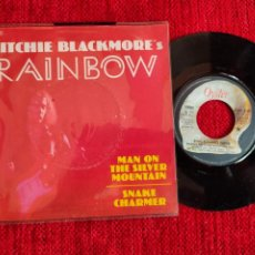 Discos de vinilo: RITCHIE BLACKMORE/ RAINBOW MAN OF THE SILVER MOUNTAIN/ 1975FRANCÉS. Lote 197336155