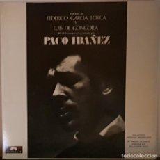 Discos de vinilo: PACO IBAÑEZ - POEMAS DE GARCIA LORCA Y DE GONGORA - DORSO CARPETA SALVADOR DALI. Lote 197337173