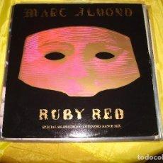 Discos de vinilo: MARC ALMOND. RUBY RED. SPECIAL DANCE MIX. VIRGIN, 1986. MAXI-SINGLE. EDC. UK. IMPECABLE (#). Lote 197342237