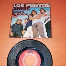 Discos de vinilo: LOS PUNTOS. ANNIE. SIENTO EL DOLOR. POLYDOR 1970. Lote 197343382