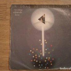 Discos de vinilo: DISCO VINILO SINGLES LA EDAD DE LOS COLORES. AZUL Y NEGRO. Lote 197346658
