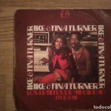 Discos de vinilo: DISCO VINILO SINGLES IKER & TINA TURNER. Lote 197347263
