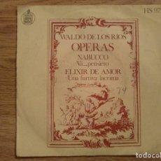 Discos de vinilo: DISCO VINILO SINGLED WALDO DE LOS RÍOS. ÓPERAS. Lote 197348305