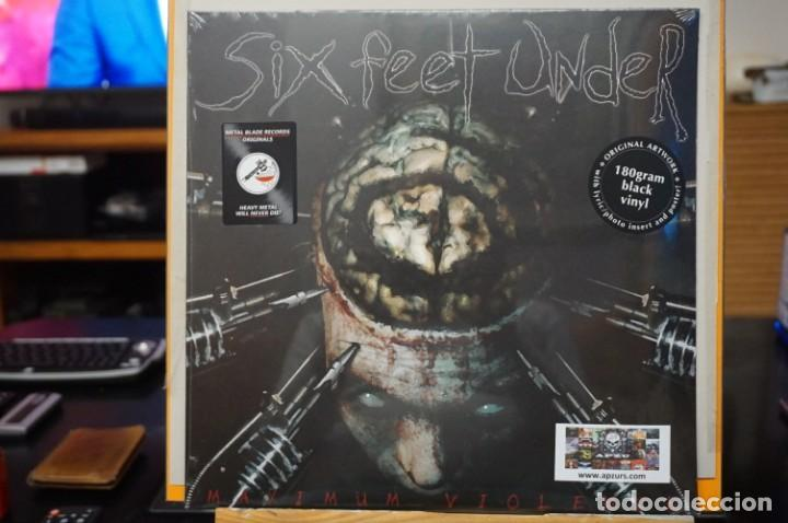 (LP-NUEVO PRECINTADO) / SIX FEET UNDER – MAXIMUM VIOLENCE - METAL BLADE RECORDS – 3984-14243-1 (Música - Discos - LP Vinilo - Heavy - Metal)