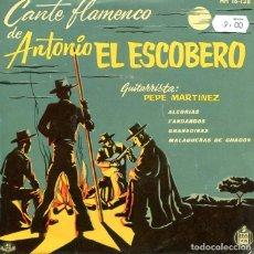 Discos de vinilo: ANTONIO EL ESCOBERO / MALAGUEÑAS DE CHACON + 3 (EP 1960). Lote 197386185
