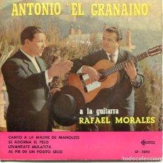 Discos de vinilo: ANTONIO EL GRANAINO / AL PIE DE UN POSITO SECO + 3 (EP 1961). Lote 197386313