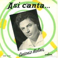 Discos de vinilo: ANTONIO MOLINA / SOY EL CANTE + 3 (EP S/F). Lote 197388198
