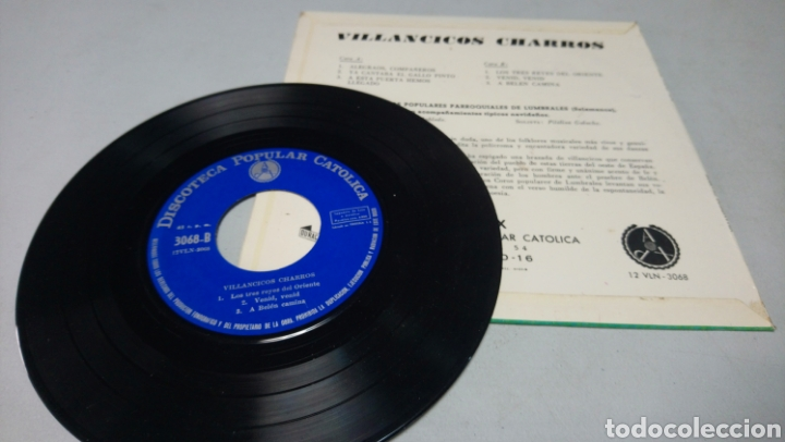 Discos de vinilo: Villancicos charros - coro popular lumbrales salamanca. Ep vinilo buen estado - Foto 2 - 197395652