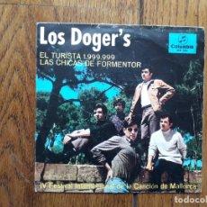 Discos de vinilo: LOS DOGER'S - EL TURISTA 1.999.999 + LAS CHICAS DE FORMENTOR . Lote 197397010