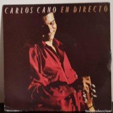 Disques de vinyle: CARLOS CANO - EN DIRECTO - DISCO PROMOCION IMPRESO EN UNA SOLA CARA - CBS 1990. Lote 197415237