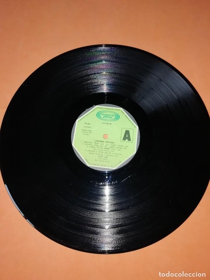 Discos de vinilo: VICTOR JARA. CANCIONES POSTUMAS. CHILE SEPTIEMBRE 1973. MOVIEPLAY 1975 - Foto 5 - 197421036