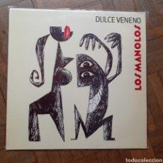 Discos de vinilo: LOS MANOLOS. DULCE VENENO. RCA 74321 10559 1 (5C). 1992 ESPAÑA. FUNDA EX. DISCO EX.. Lote 197432293