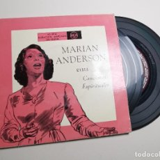 Discos de vinilo: MARIAN ANDERSON: CANCIONES ESPIRITUALES: RÍO PROFUNDO / EL MUNDO ES SUYO / OH, RÍO JORDÁN + 8. Lote 197437601