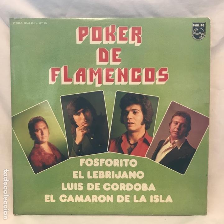 EL CAMARÓN DE LA ISLA FOSFORITO - EL LEBRIJANO - LUIS DE CÓRDOBA ?– POKER DE FLAMENCOS (Música - Discos - LP Vinilo - Flamenco, Canción española y Cuplé)