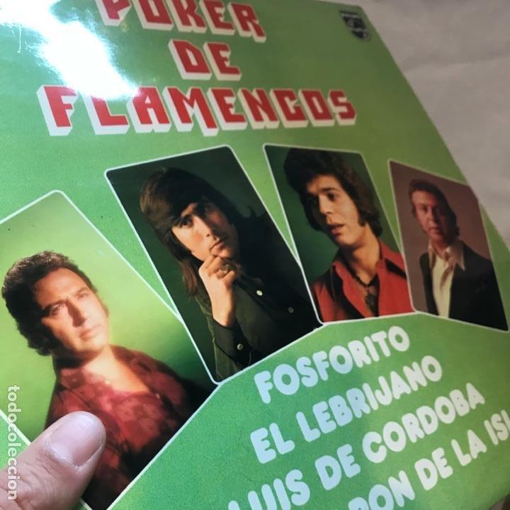 Discos de vinilo: El Camarón De La Isla Fosforito - El Lebrijano - Luis De Córdoba ?– Poker De Flamencos - Foto 4 - 197439367