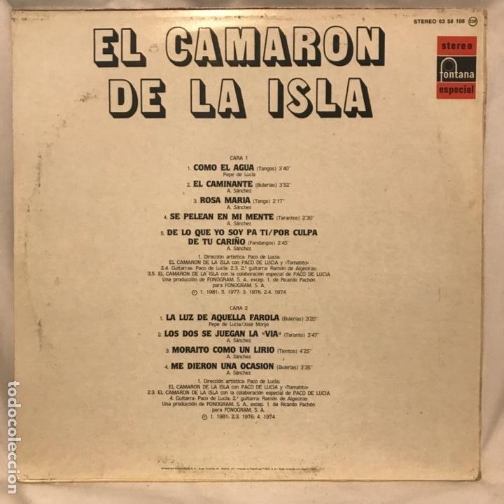 Discos de vinilo: El Camaron De La Isla El Camaron De La Isla 1983 - Foto 2 - 197441731