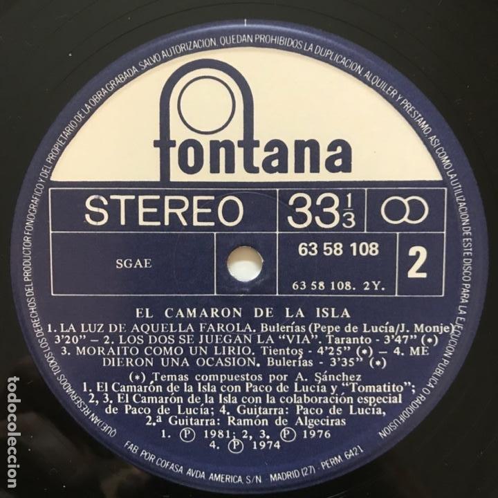 Discos de vinilo: El Camaron De La Isla El Camaron De La Isla 1983 - Foto 3 - 197441731