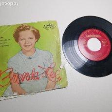 Discos de vinilo: BRENDA LEE - DYNAMITE + 3 ****************RARO EP ESPAÑOL 1959, IMPOSIBLE EDICIÓN GALLETA ROJA. Lote 197445067