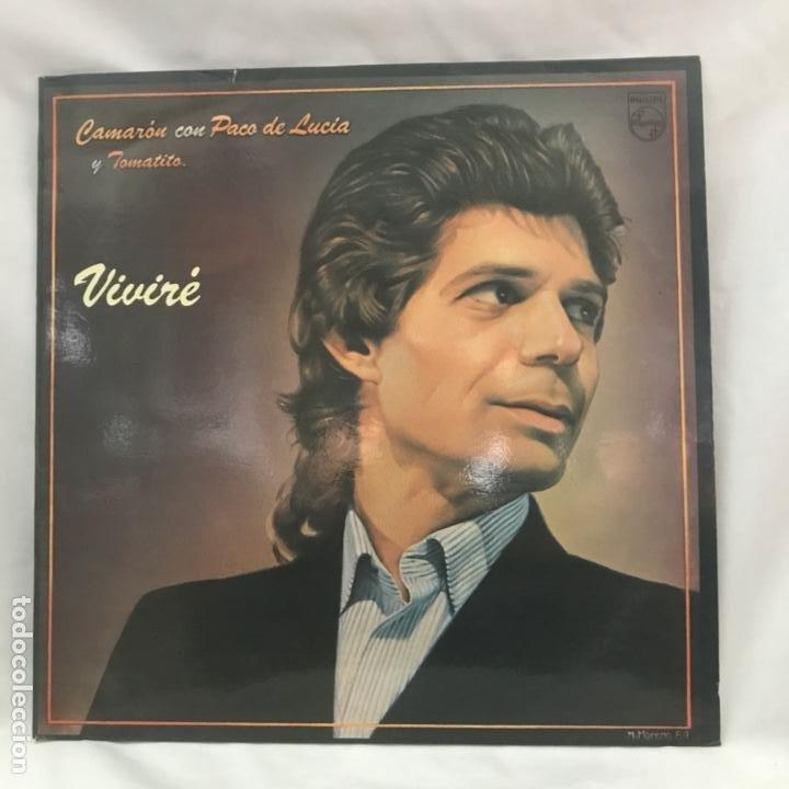 EL CAMARÓN DE LA ISLA CON PACO DE LUCÍA Y TOMATITO VIVIRÉ 1984 (Música - Discos - LP Vinilo - Flamenco, Canción española y Cuplé)