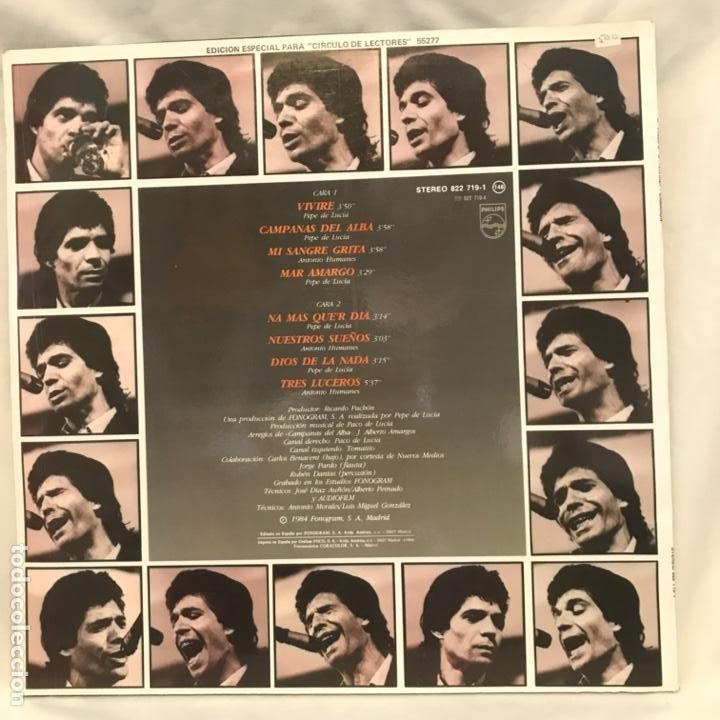 Discos de vinilo: El Camarón De La Isla Con Paco De Lucía Y Tomatito Viviré 1984 - Foto 2 - 197446695