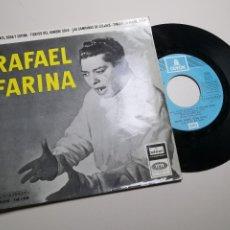 Discos de vinilo: RAFAEL FARINA. EL CANTE,ROSA Y ESPINA,TIENTOS DEL HOMBRE SOLO,LAS CAMPANAS DE LINARES 1958. Lote 197449770