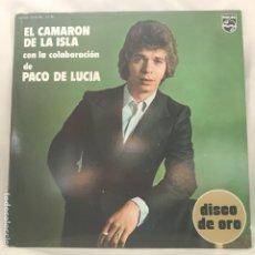 Discos de vinilo: EL CAMARÓN DE LA ISLA CON LA COLABORACIÓN DE PACO DE LUCÍA ?– DISCO DE ORO 1976. Lote 197450202