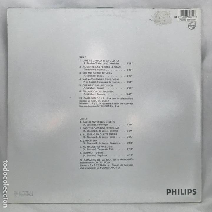 Discos de vinilo: El Camarón De La Isla Con La Colaboración De Paco De Lucía ?– Disco De Oro 1976 - Foto 3 - 197450202