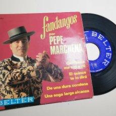 Discos de vinilo: EP DE PEPE MARCHENA FANDANGOS 4 TEMAS 1969. Lote 197450260