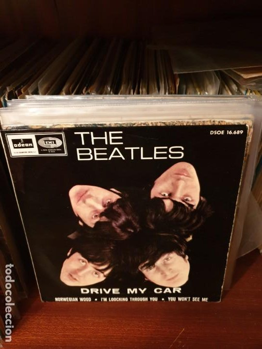THE BEATLES / DRIVE MY CAR / EDICIÓN ESPAÑOLA / ODEON 1966 (Música - Discos de Vinilo - EPs - Pop - Rock Extranjero de los 50 y 60	)
