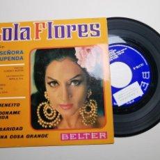Discos de vinilo: B.S.O. FILM UNA SEÑORA ESTUPENDA - LOLA FLORES, EP, EL MENEITO + 3, AÑO 1968. Lote 197452982
