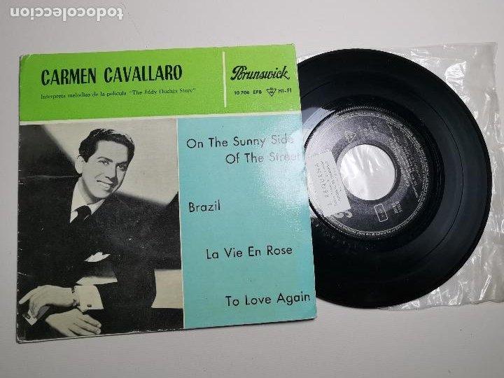 CARMEN CAVALLARO EDDIE DUCHIN STORY (SUNNY SIDE STREET +3) EP ESPAÑA 1961 (Música - Discos de Vinilo - EPs - Bandas Sonoras y Actores)