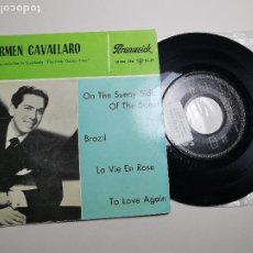 Discos de vinilo: CARMEN CAVALLARO EDDIE DUCHIN STORY (SUNNY SIDE STREET +3) EP ESPAÑA 1961. Lote 197454356