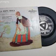 Discos de vinilo: LA PEPA MACA. EMILIO VENDRELL Y CAYETANO RENOM. ALHAMBRA--SARDANAS. Lote 197456240