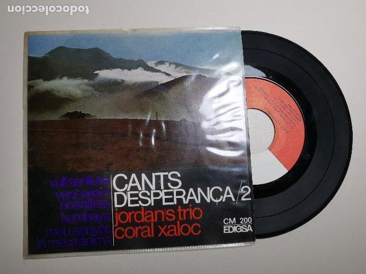 JORDANS TRIO. CANTS D'ESPERANÇA 2. KUMBAYA. VULL SER LLIURE. VENCEREM. MOU SENYOR. EDIGSA 1967. EP (Música - Discos de Vinilo - EPs - Country y Folk)