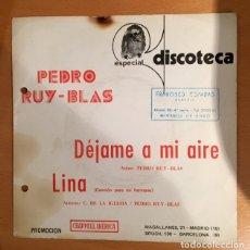 Discos de vinilo: PEDRO RUY- BLAS - RARO SINGLE PROMOCIONAL. Lote 197461858