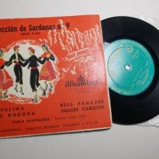 Discos de vinilo: SELECCION DE SARDANAS Nº 9 COBLA BARCELONA - -ALHAMBRA -EMGE 70024. Lote 197463715