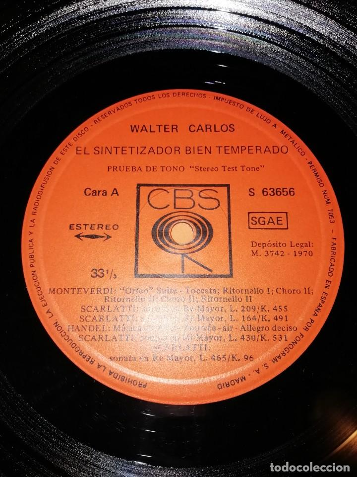 Discos de vinilo: WALTER CARLOS Y EL SINTETIZADOR BIEN TEMPERADO. CBS 1970 - Foto 6 - 197464757