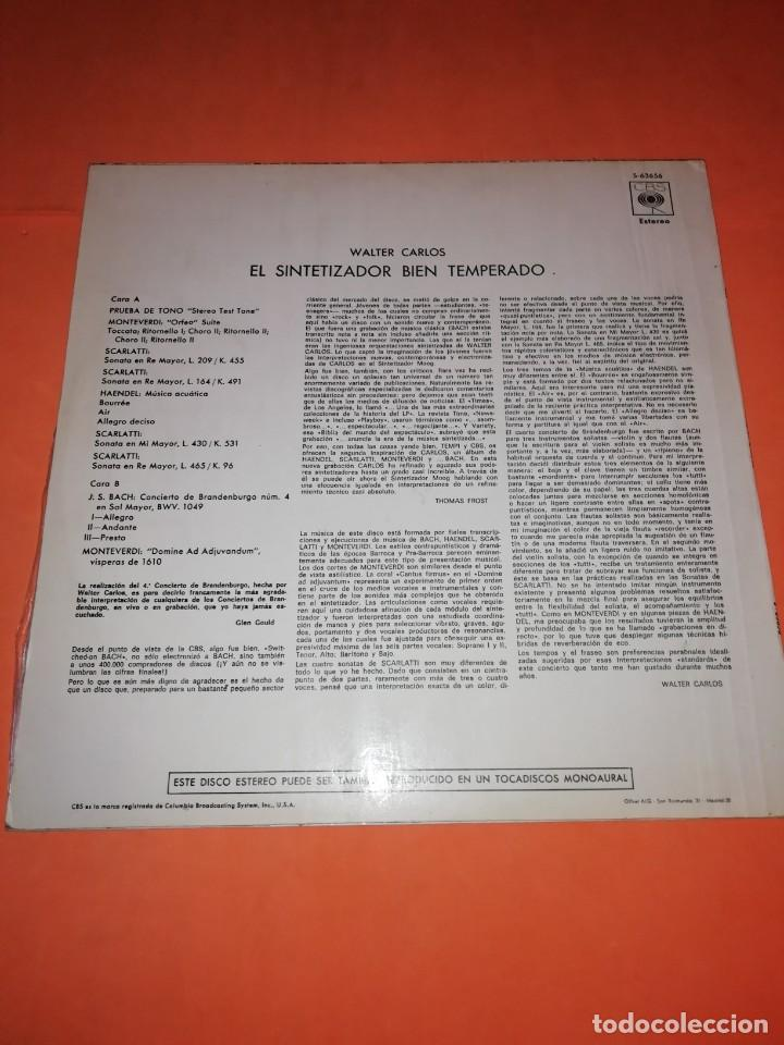 Discos de vinilo: WALTER CARLOS Y EL SINTETIZADOR BIEN TEMPERADO. CBS 1970 - Foto 2 - 197464757