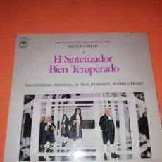 Discos de vinilo: WALTER CARLOS Y EL SINTETIZADOR BIEN TEMPERADO. CBS 1970. Lote 197464757