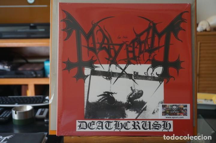 (LP-NUEVO PRECINTADO) / MAYHEM – DEATHCRUSH - BACK ON BLACK – BOBV049LP (Música - Discos - LP Vinilo - Heavy - Metal)