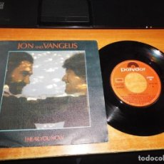 Discos de vinilo: JON AND VANGELIS HEAR YOU NOW RAINBOW WEISS HEIM SINGLE VINILO AÑO 1980 POLYDOR ESPAÑA FALLO ERROR. Lote 197475133