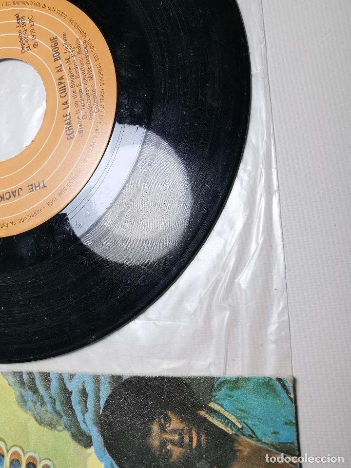 Discos de vinilo: The Jacksons - Echale La Culpa Al Boogie (Single) (Epic) EPC 6683 - Foto 3 - 197476355
