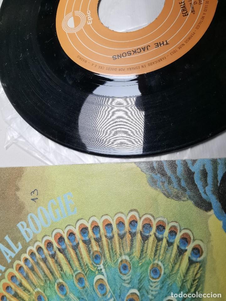Discos de vinilo: The Jacksons - Echale La Culpa Al Boogie (Single) (Epic) EPC 6683 - Foto 4 - 197476355