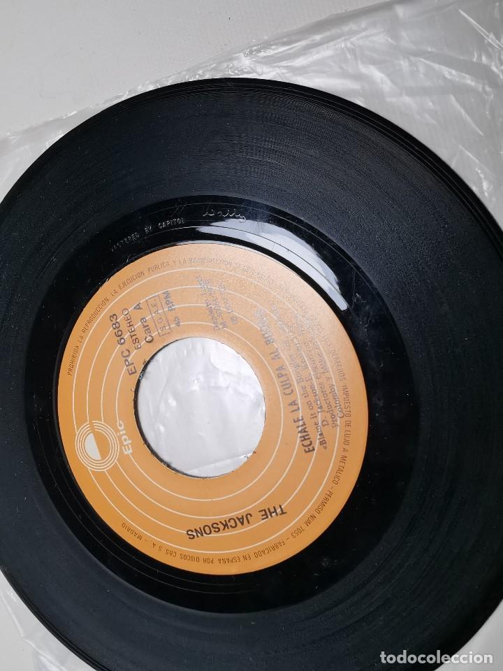 Discos de vinilo: The Jacksons - Echale La Culpa Al Boogie (Single) (Epic) EPC 6683 - Foto 5 - 197476355