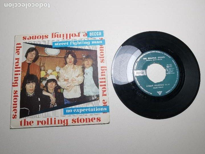 ROLLING STONES / STREET FIGHTING MAN / NO EXPECTATIONS (SINGLE 1968) DECCA MO 477 (Música - Discos - Singles Vinilo - Pop - Rock Extranjero de los 50 y 60)