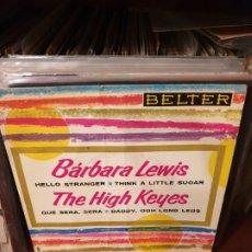 Discos de vinilo: BARBARA LEWIS / THE HIGH KEYES / EDICIÓN ESPAÑOLA / BELTER 1963. Lote 197481718